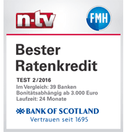Ratenkredit bei Bank of Scotland